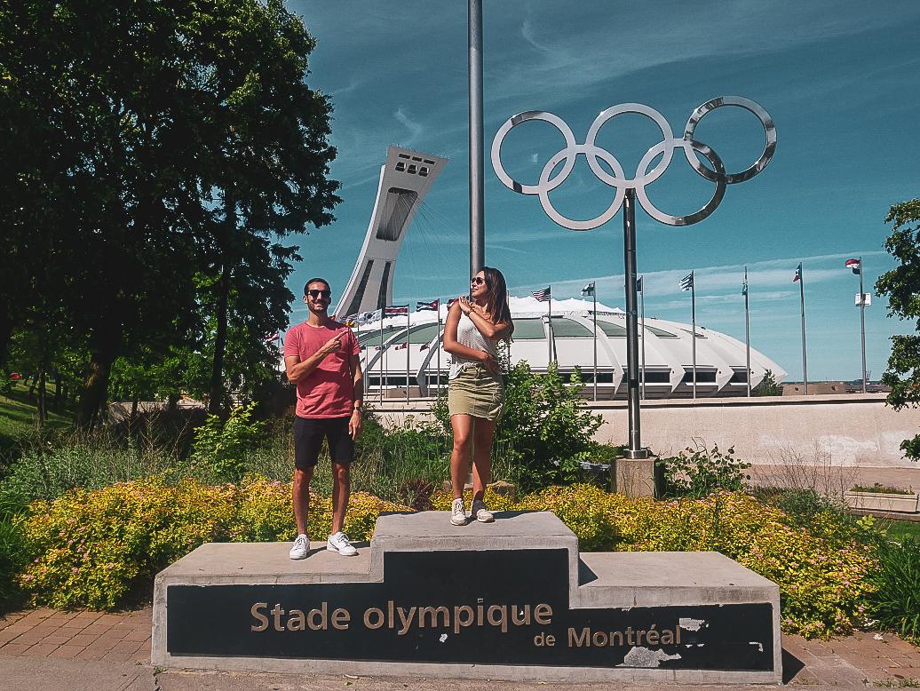 Parc Olympique de Montréal - PVT Canada : Arrivée et installation à Montréal - Blog Voyage Ma Folie Vagabonde