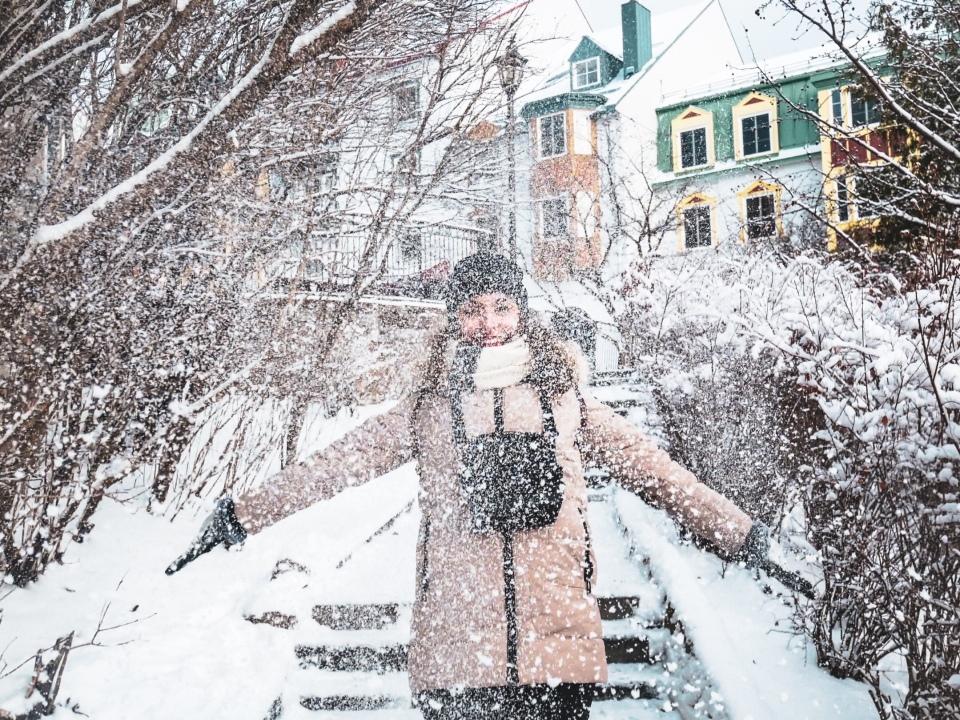 Neige à Mont-Tremblant village - L'Hiver à Montréal, Canada - Blog Voyage Ma Folie Vagabonde