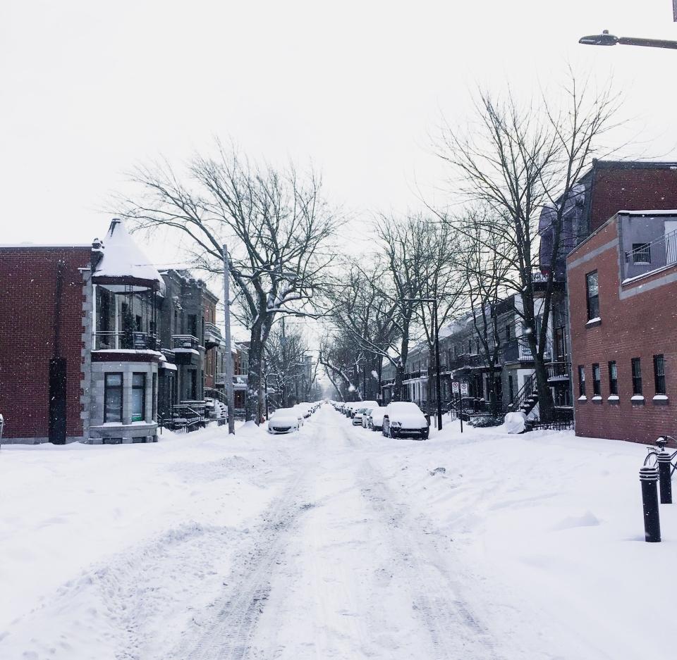 Le Plateau sous la neige - L'Hiver à Montréal, Canada - Blog Voyage Ma Folie Vagabonde