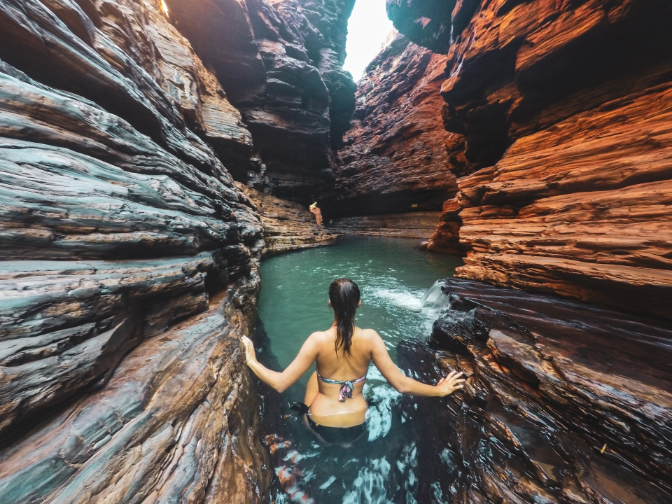 Kermits Pool, Karijini Park - PVT Australie : de Perth à Darwin - Blog Voyage Ma Folie Vagabonde