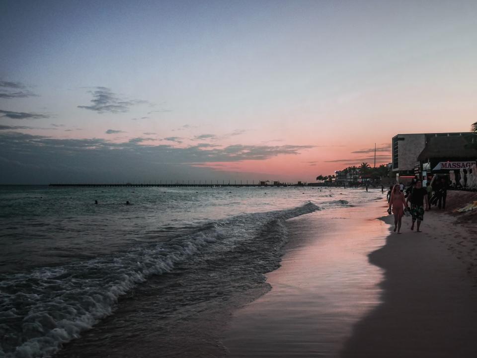 Coucher de soleil à Playa del Carmen - Roadtrip 10 jours au Mexique - Blog Voyage Ma Folie Vagabonde
