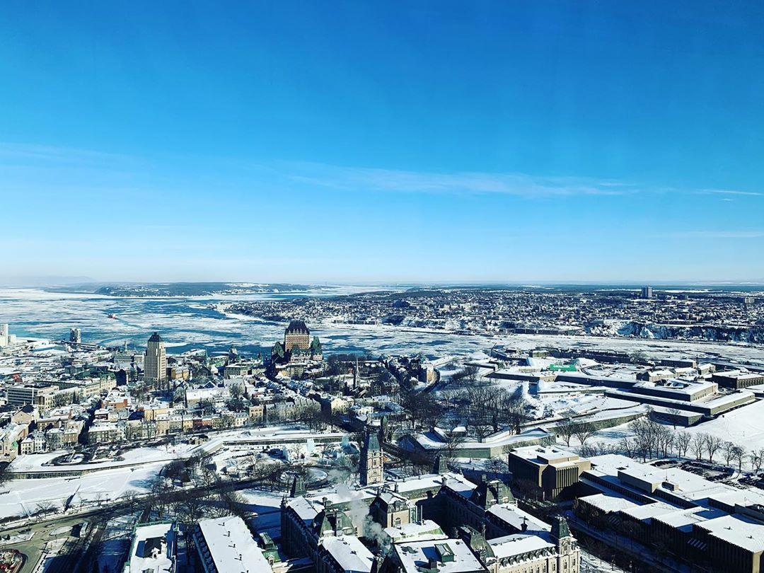 Québec de l'observatoire de la capitale, Québec - Incontournables de Québec été et hiver - Blog Voyage Ma Folie Vagabonde